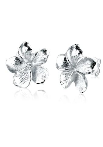 Elli Paar Ohrstecker »Frangipani Blüte Blume Filigran 925 Silber« kaufen