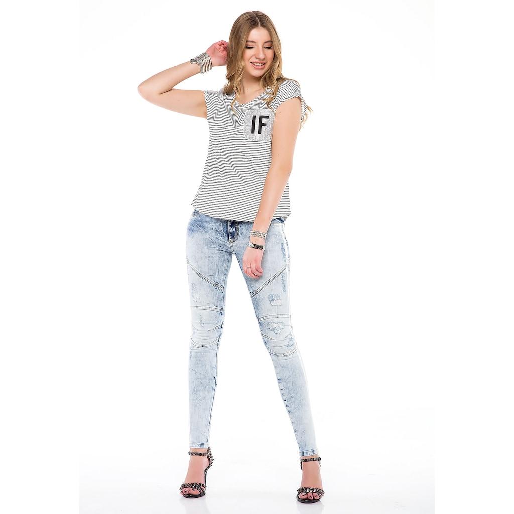 Cipo & Baxx Slim-fit-Jeans, in modischem Slim-Fit Schnitt