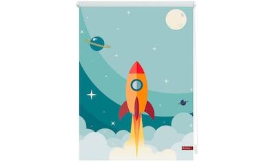 LICHTBLICK Seitenzugrollo »Klemmfix Digital Rakete«, verdunkelnd, energiesparend, ohne Bohren, freihängend, bedruckt kaufen