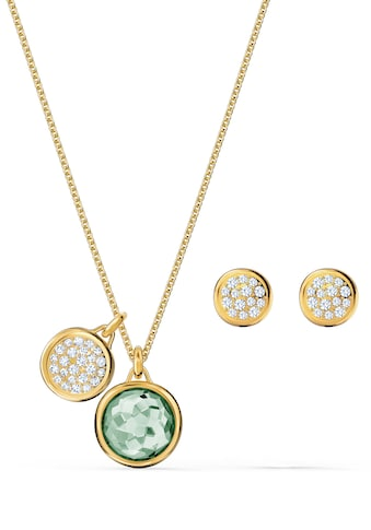 Swarovski Ohrring und Ketten Set »Tahlia, grün, vergoldet, 5579789« (Set, 3 tlg.) kaufen
