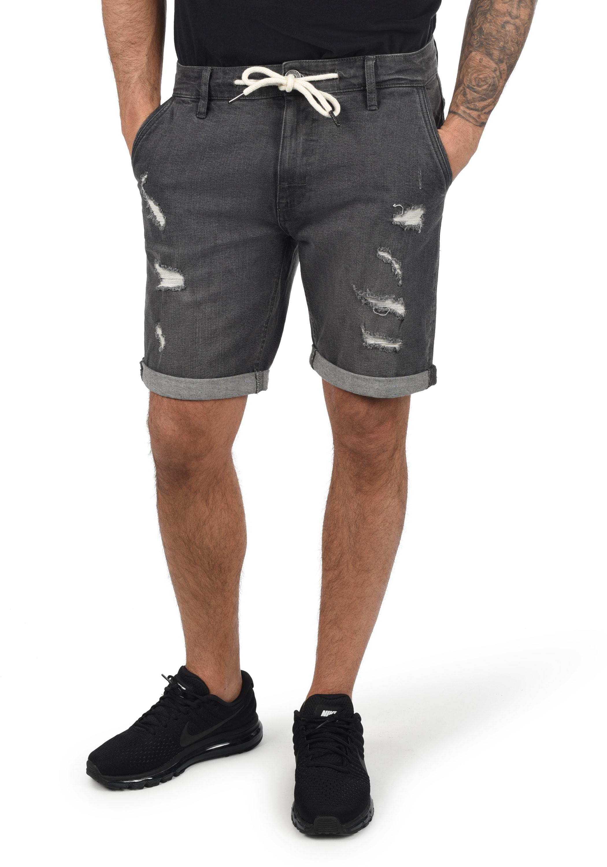 Indicode Alessio Herren Jeans Shorts Kurze Denim Hose Stretch-Anteil Regular Fit