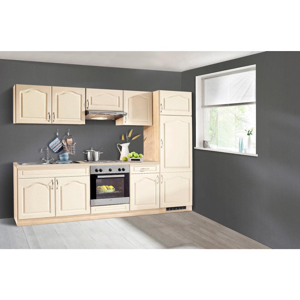 wiho Küchen Küchenzeile »Linz«, mit E-Geräten, Breite 270 cm, mit Cerankochfeld