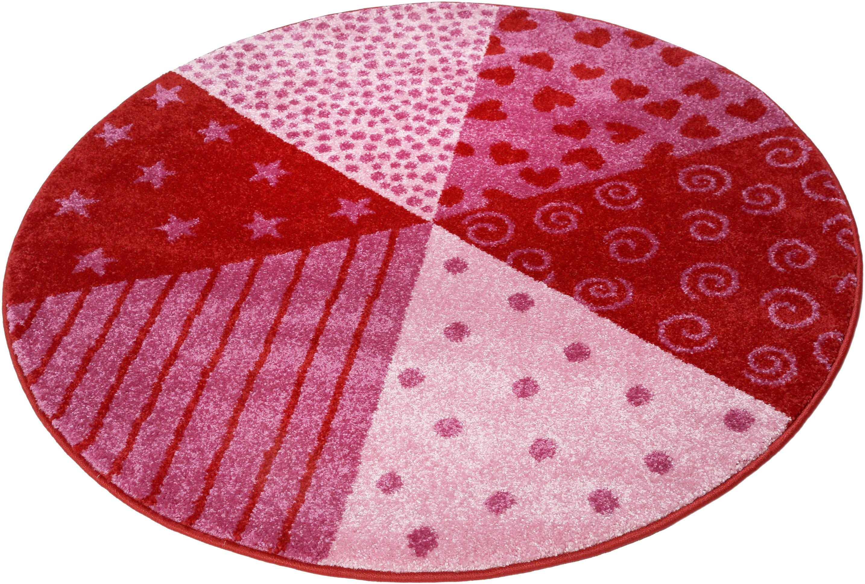 Sigikid Kinderteppich Canon, rund, 13 mm Höhe rot Kinder Kinderteppiche mit Motiv Teppiche