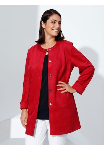 m. collection Langjacke, aus Velourslederimitat kaufen