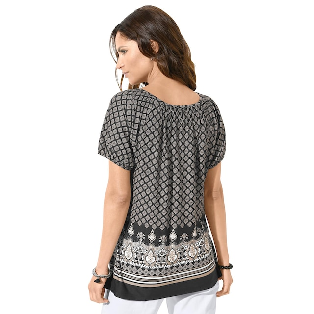 Classic Inspirationen Shirt mit platziertem Bordüren-Druck