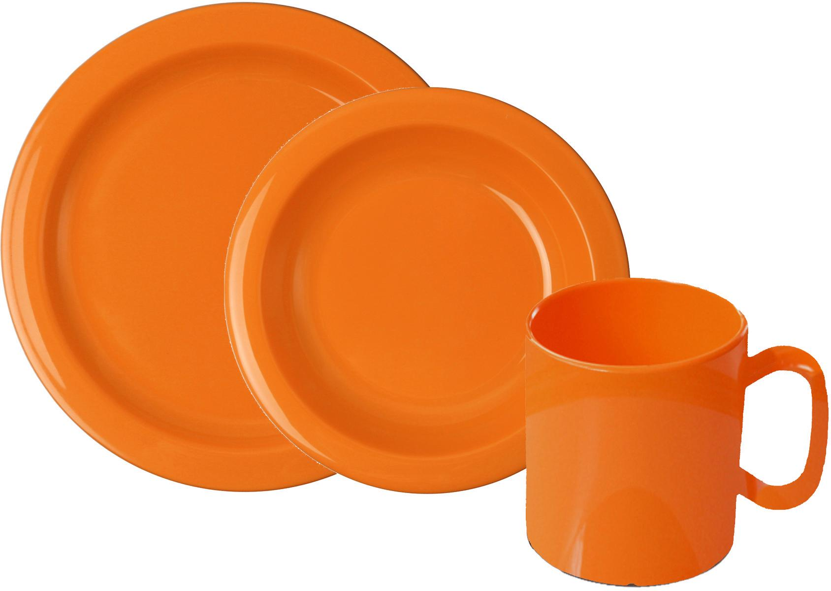 WACA Frühstücks-Set, (Set, 6 tlg.) orange Frühstücksset Eierbecher Geschirr, Porzellan Tischaccessoires Haushaltswaren Frühstücks-Set