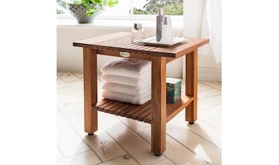 Destiny Badhocker »SPA Hocker/Tisch geriffelt mit Ablagefläche« kaufen