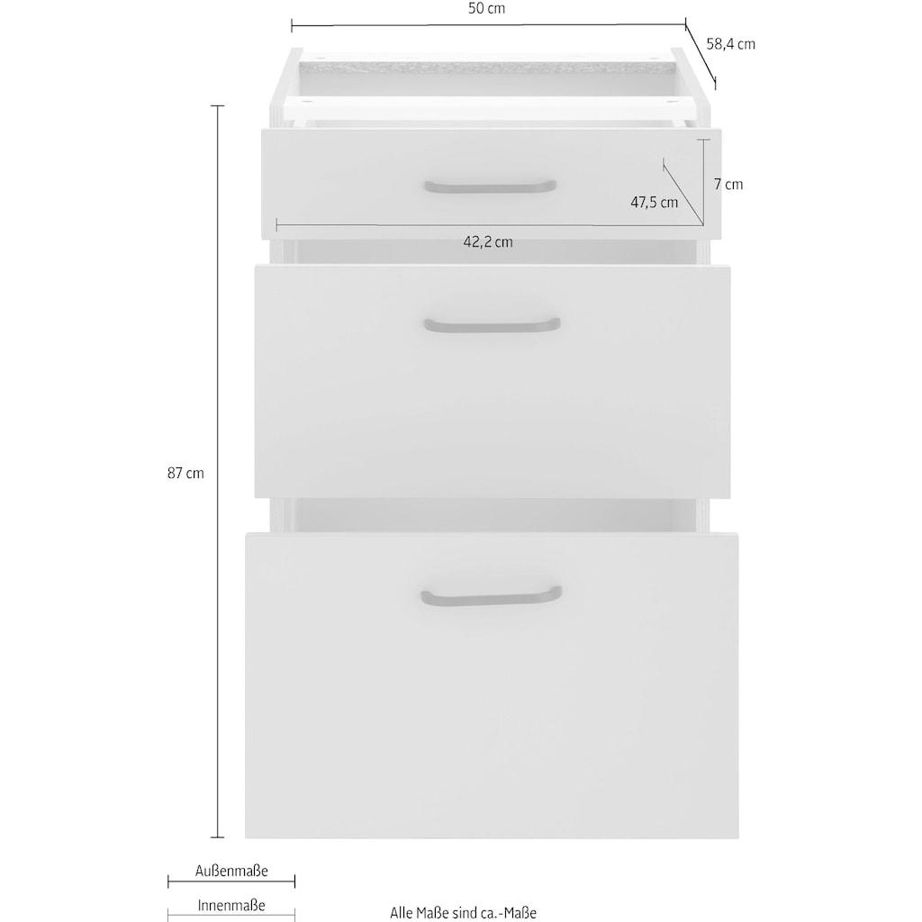 OPTIFIT Unterschrank »Elga«, mit großen Auszügen, Breite 50 cm