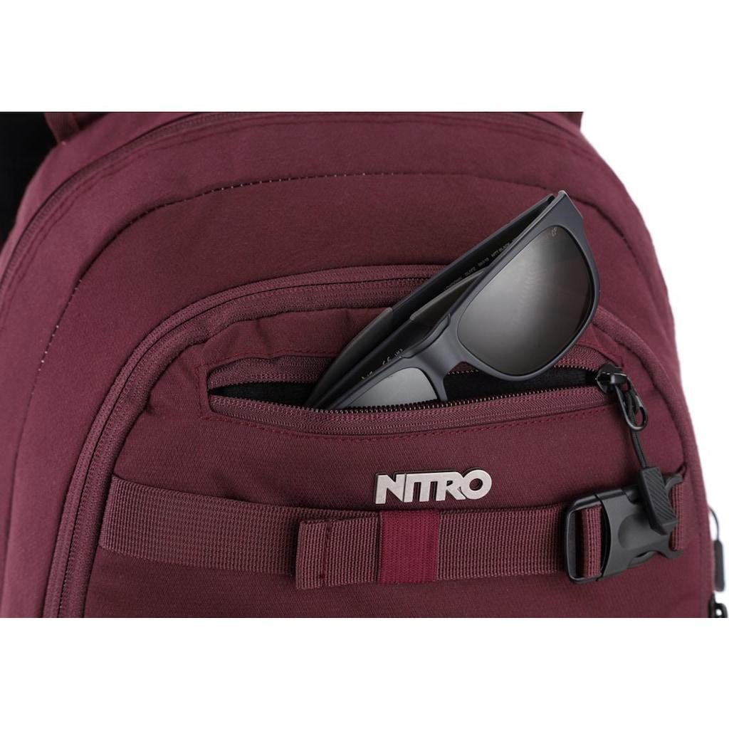 NITRO Schulrucksack »Chase, Wine«