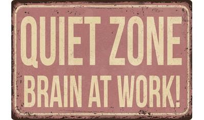 queence Metallbild »QUIET ZONE«, Sprüche & Texte, (1 St.) kaufen
