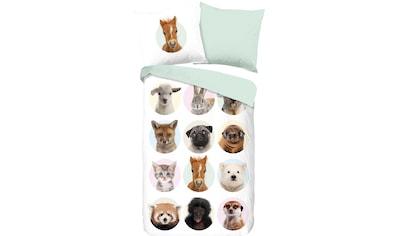 good morning Kinderbettwäsche »Younganimals«, mit Tierprint kaufen