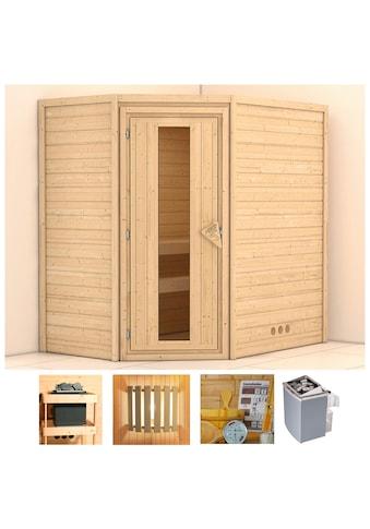 KONIFERA Sauna »Walram«, 196x144x198 cm, 9 kW Ofen mit int. Steuerung, Energiespartür kaufen