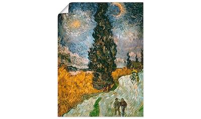 Artland Wandbild »Zypresse gegen den Sternenhimmel«, Bäume, (1 St.), in vielen Größen... kaufen