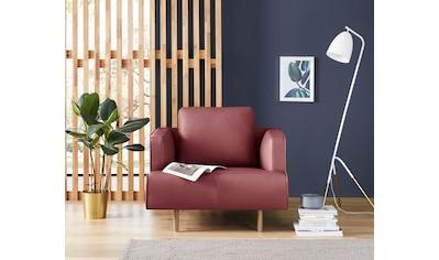hülsta sofa Sessel »hs.440«, wahlweise in Stoff oder Leder, Fuß Eiche natur kaufen