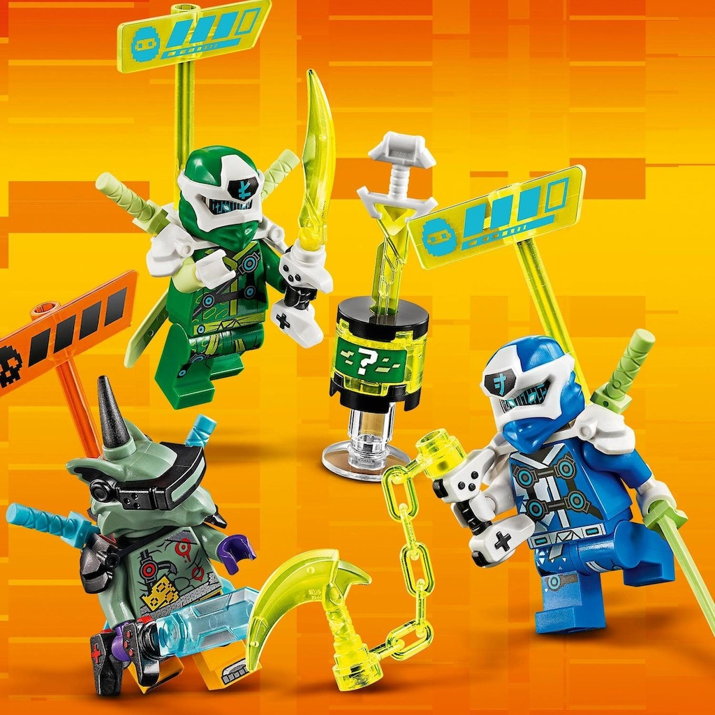 LEGO® Konstruktionsspielsteine »Jay und Lloyds Power-Flitzer (71709), LEGO® NINJAGO®«, (322 St.), Made in Europe