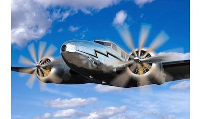 Papermoon Fototapete »Klassisches Vintage Flugzeug«, Vliestapete, hochwertiger... kaufen