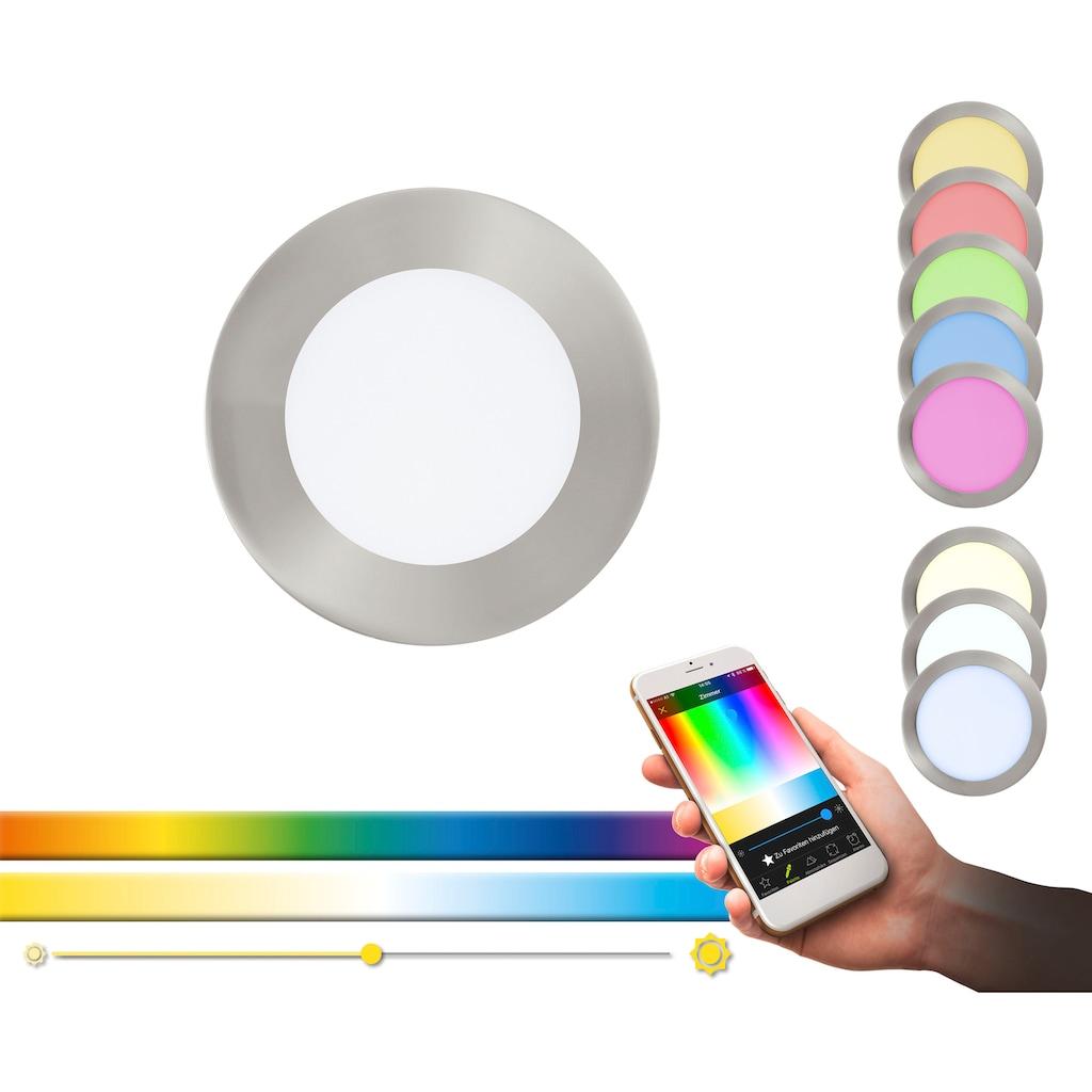 EGLO Einbauleuchte »FUEVA-C«, LED-Board, Neutralweiß-Tageslichtweiß-Warmweiß-Kaltweiß, EGLO CONNECT, Steuerung über APP + Fernbedienung, BLE, CCT, RGB