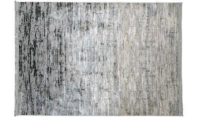 RESITAL The Voice of Carpet Teppich »Lucca 6031«, rechteckig, 5 mm Höhe, leichter Glanzeffekt, mit Fransen, Wohnzimmer kaufen
