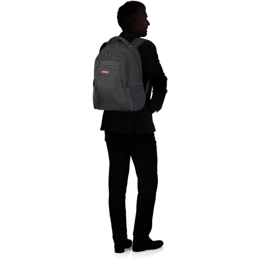 American Tourister® Laptoprucksack »At Work 17.3, black/orange«