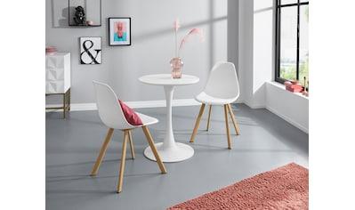 INOSIGN Esstisch »Feronia«, mit einer runden Tischplatte aus Holzwerkstoff und einem Trompetenförmigen Metallgestell, in zwei unterschiedlichen Tischgrößen erhältlich kaufen
