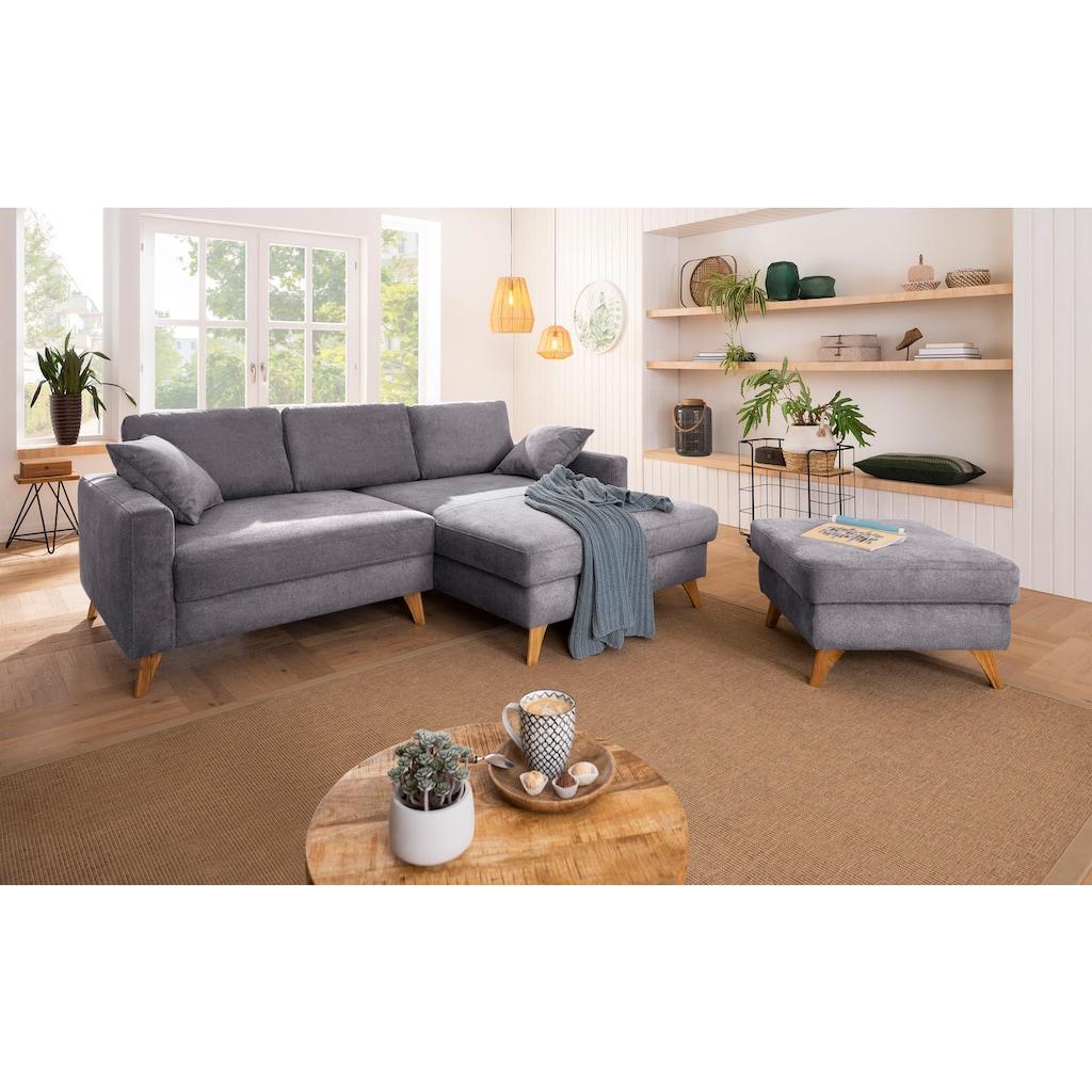 Home affaire Ecksofa »Stanza Luxus«, mit besonders hoher Belastbarkeit pro Sitzplatz mit 140 kg, incl. 2 Zierkissen