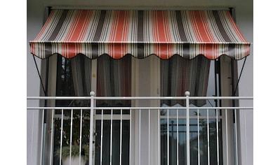 Angerer Freizeitmöbel Klemmmarkise, rot/beige/braun, Ausfall: 150 cm, versch. Breiten kaufen