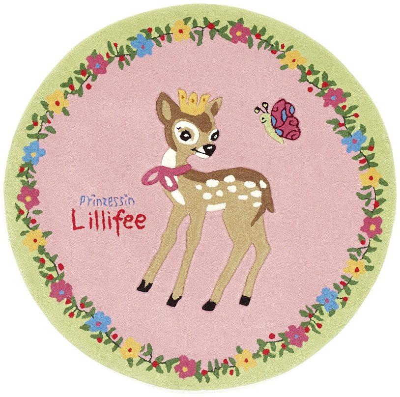 Teppich LI-2935-01 Prinzessin Lillifee rund Höhe 10 mm handgetuftet