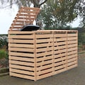 promadino Mülltonnenbox »Vario V«, für 3 x 240 l, holzfarben