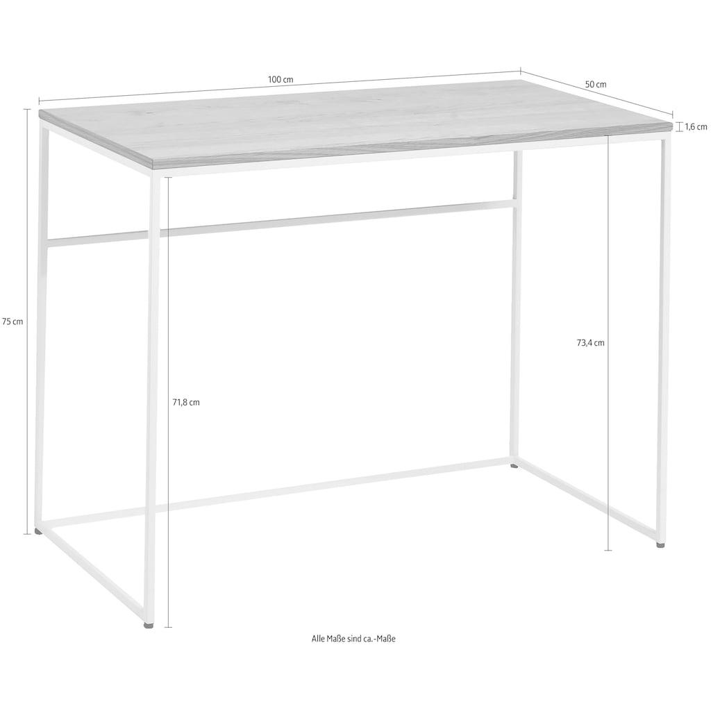 now! by hülsta Schreibtisch »CT 17«, mit weißem Gestell, perfekt auch als Schminktisch