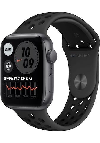Apple Watch »Nike SE GPS, Aluminiumgehäuse mit Nike Sportarmband 44mm« (, Watch OS 6, inkl. Ladestation (magnetisches Ladekabel) kaufen