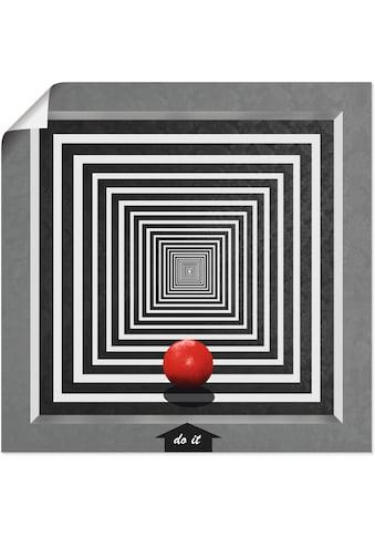 Artland Wandbild »Mach es«, Muster, (1 St.), in vielen Größen & Produktarten -Leinwandbild, Poster, Wandaufkleber / Wandtattoo auch für Badezimmer geeignet kaufen