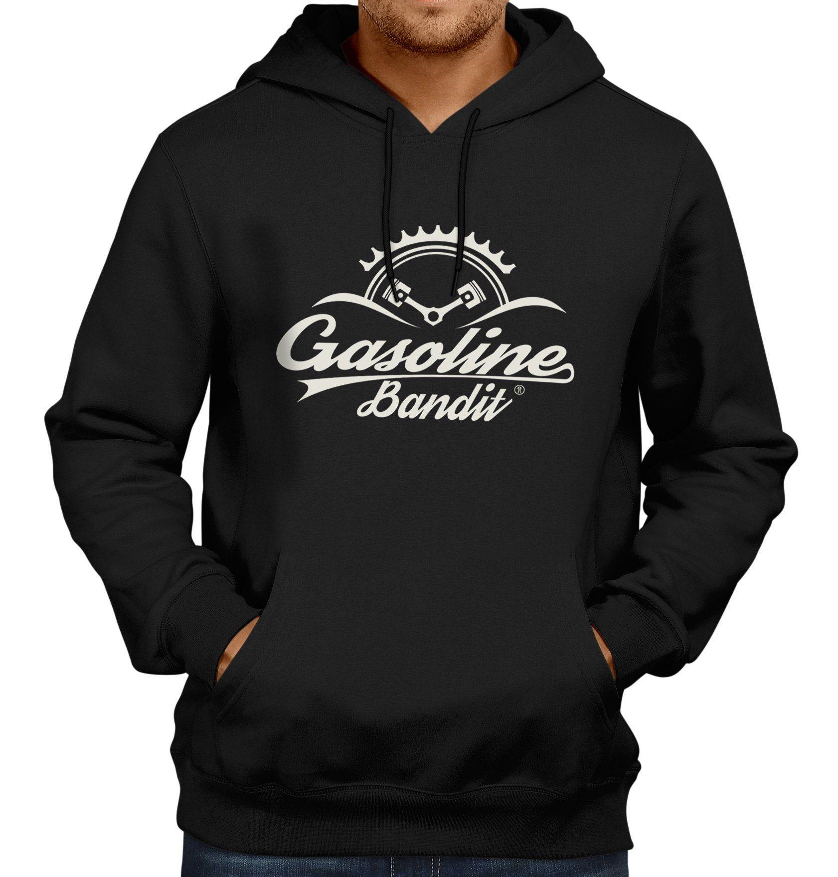 GASOLINE BANDIT Kapuzenpullover mit Logo-Print   Bekleidung > Pullover   Schwarz   Baumwolle   Gasoline Bandit