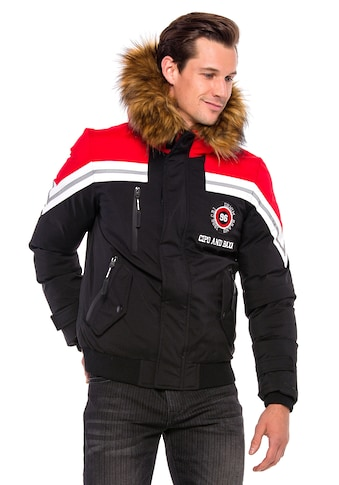 Cipo & Baxx Winterjacke, mit Fellkapuze kaufen