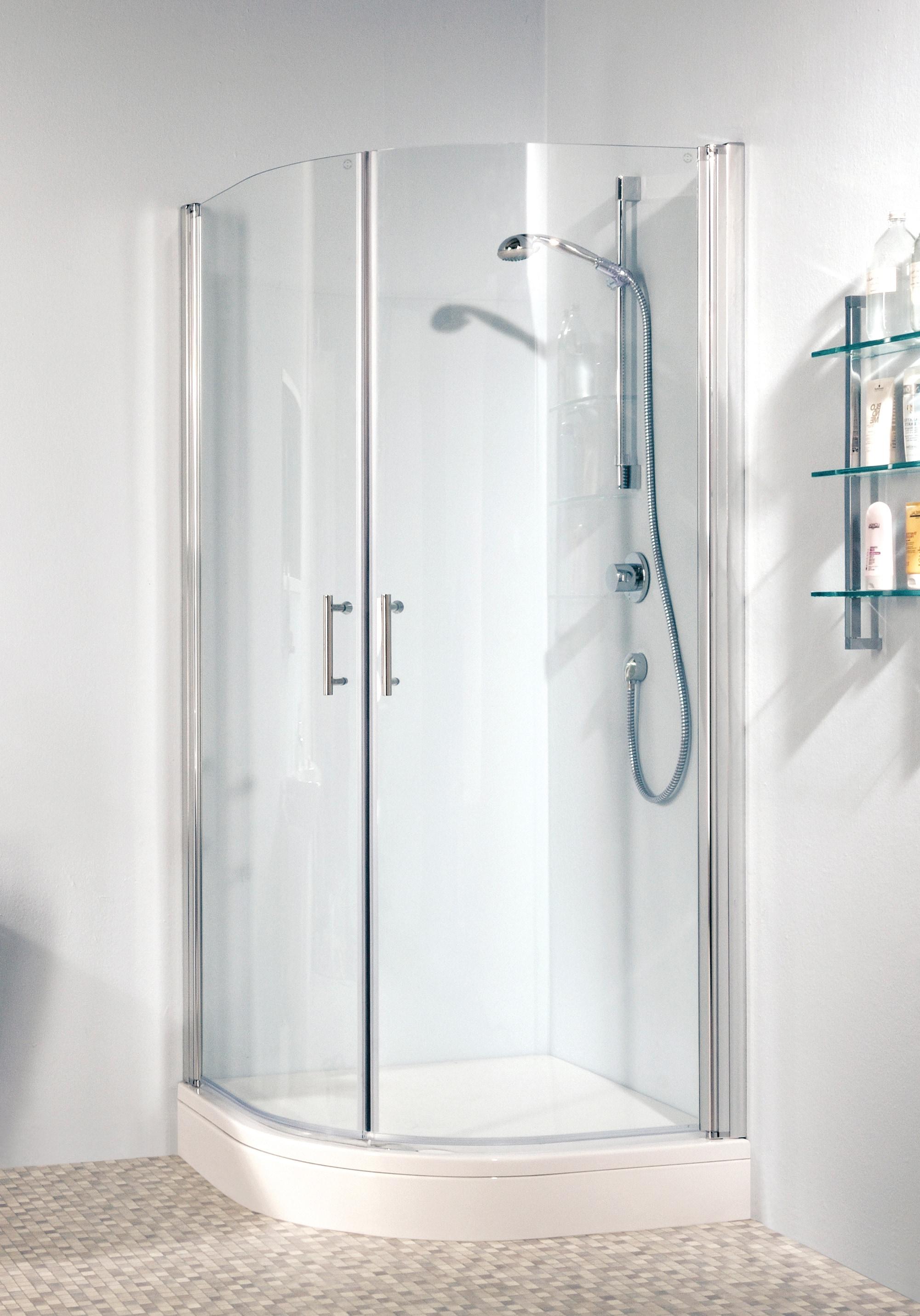 maw Runddusche Relax, mit Schwingtür silberfarben Duschkabinen Duschen Bad Sanitär Eckdusche