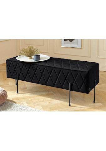 Leonique Sitzbank »Cavalino«, mit Velvetbezug und mit schwarzen Metallbeinen, auch als Garderobenbank oder Bettbank geeignet kaufen