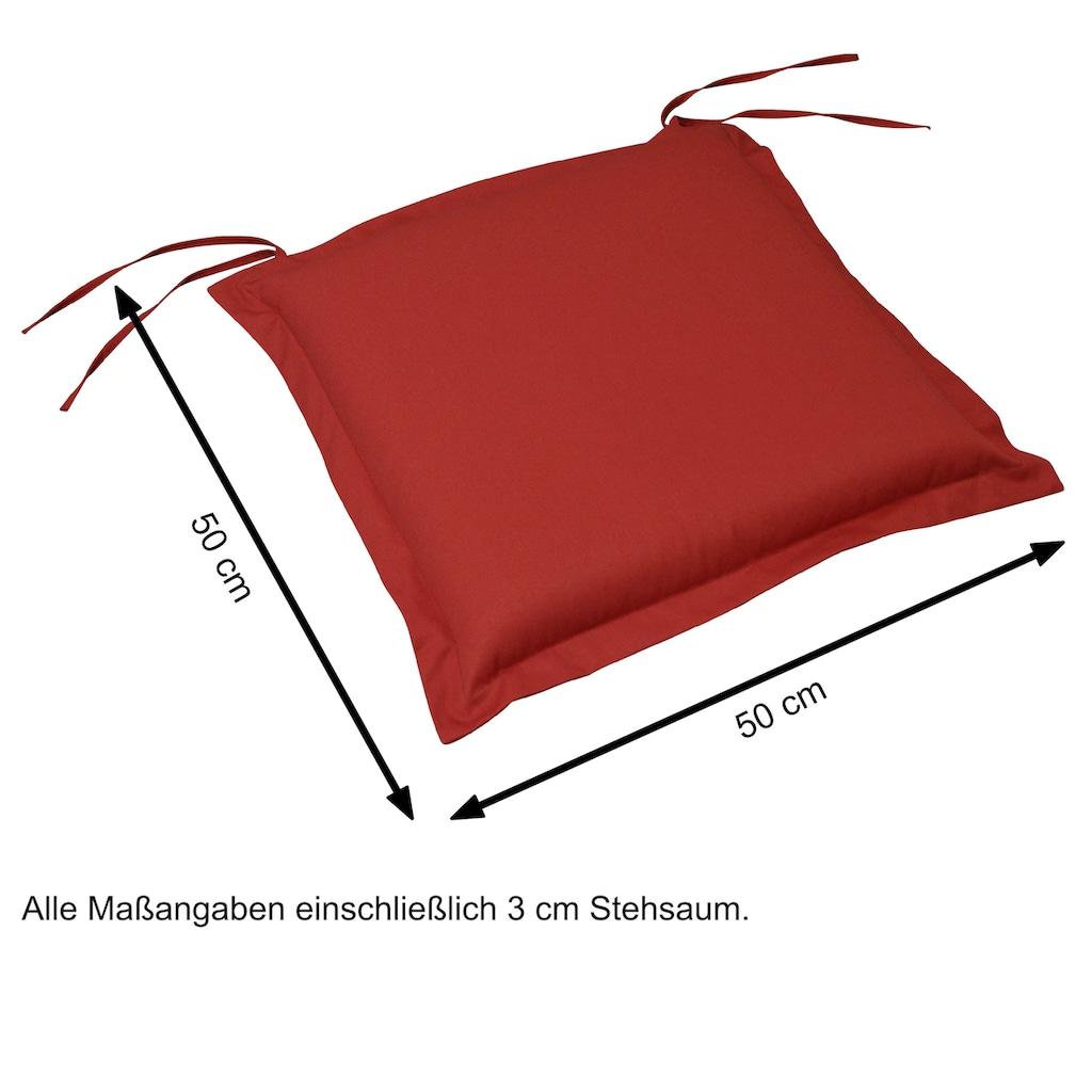 indoba Sitzkissen »Premium«, 2er Set, extra dick - Rot IND-70434-AUSK-2