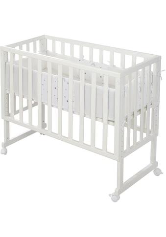 roba® Stubenbett »Safe Asleep® 2in1, weiß, Sternenzauber grau«, mit 4 Rollen,... kaufen