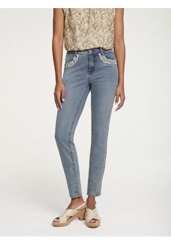 Jeans Biela mit Spitzenbesatz kaufen