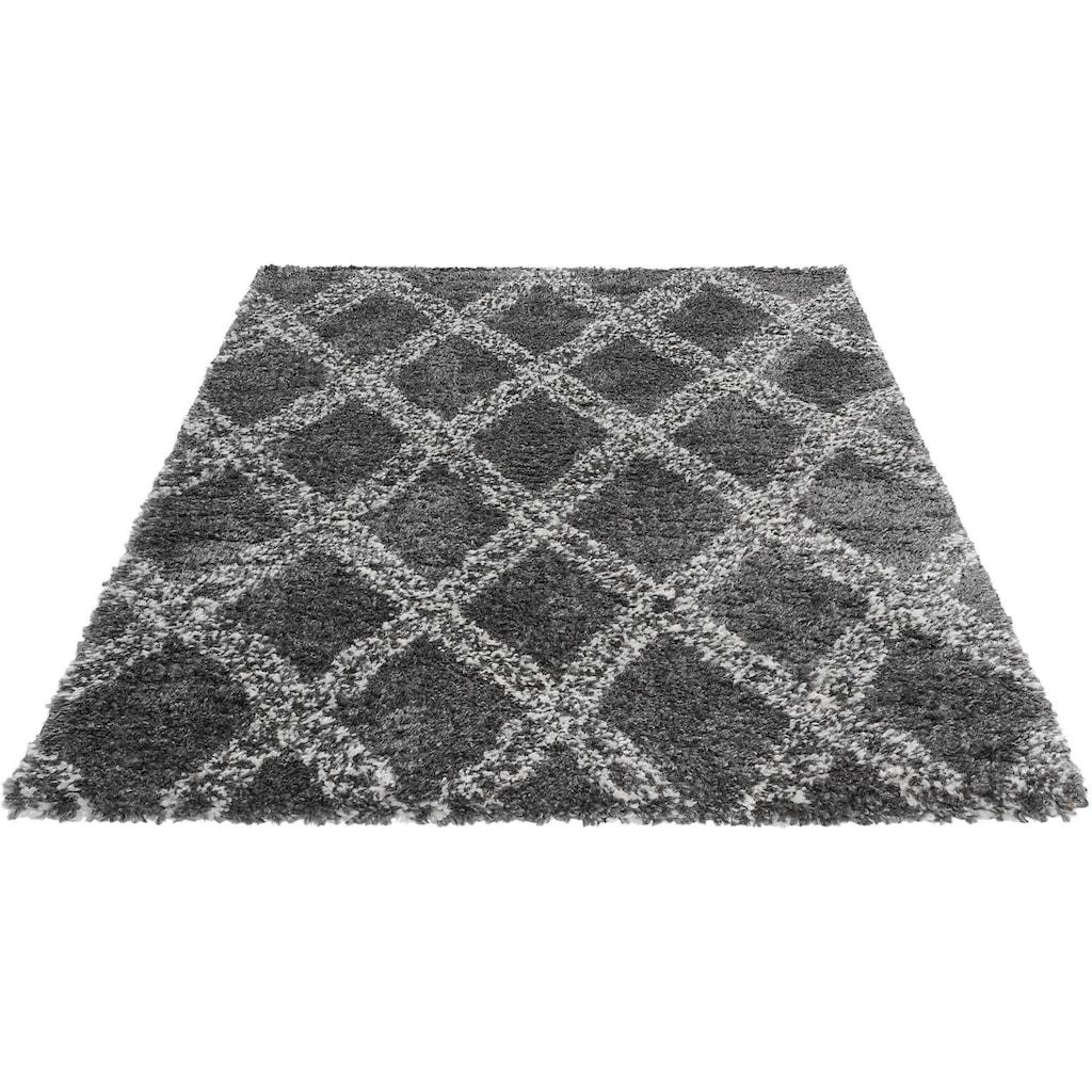 Sehrazat Hochflor-Teppich »Ethno 8699«, rechteckig, 30 mm Höhe, Langflor im Allover Design, Wohnzimmer