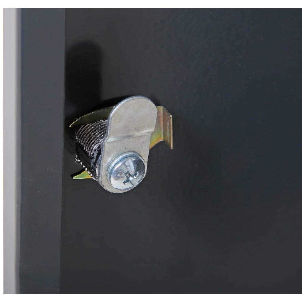 ONDIS24 Hängeschrank »Kurt«, 2-türig mit offenem Mittelteil, abschließbar