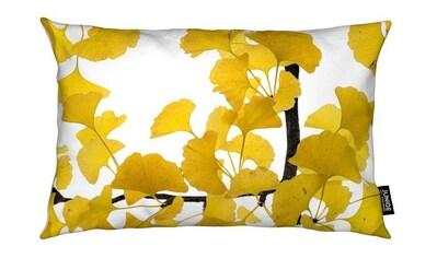 Juniqe Dekokissen »Flora - Ginko«, Weiches, allergikerfreundliches Material kaufen