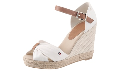 TOMMY HILFIGER High-Heel-Sandalette »BASIC OPENED TOE HIGH WEDGE«, mit dezenter... kaufen