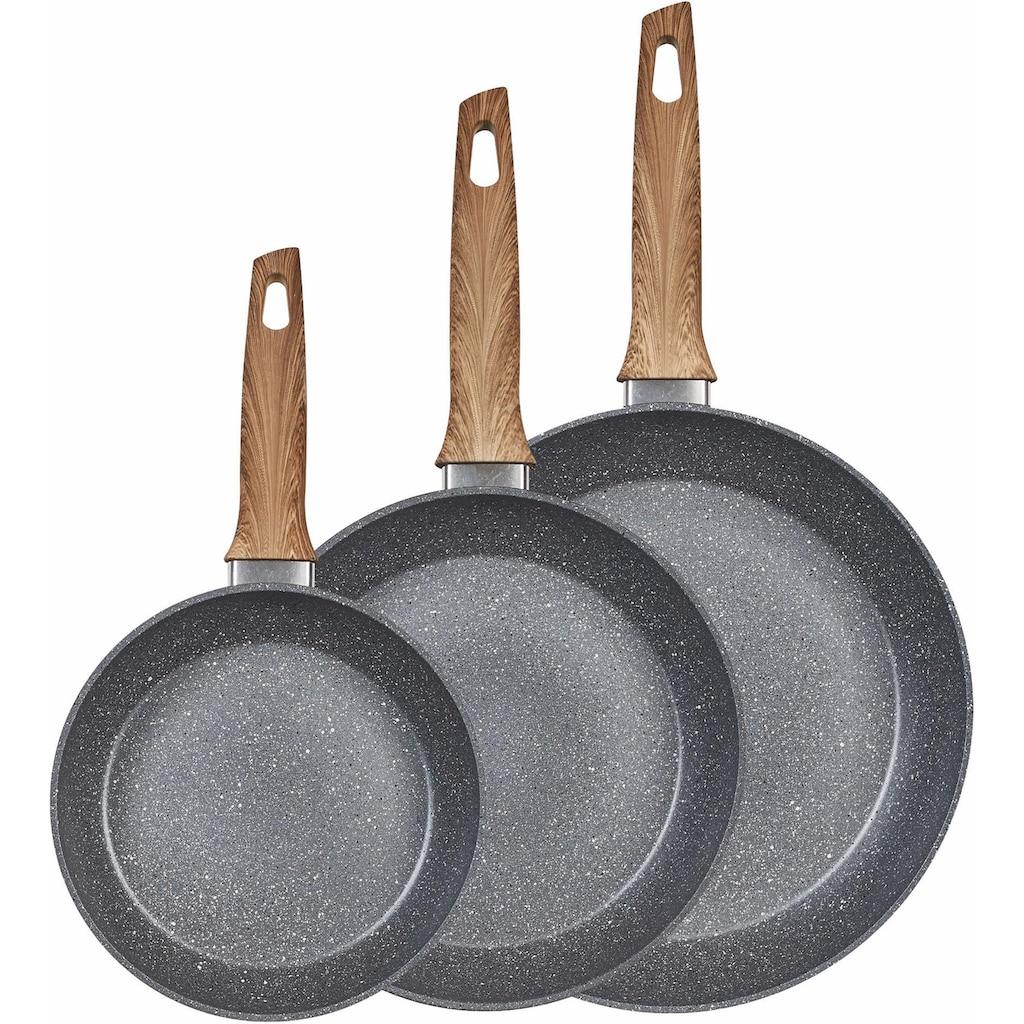 KING Pfannen-Set, Aluminium, (Set, 3 tlg.), Induktion