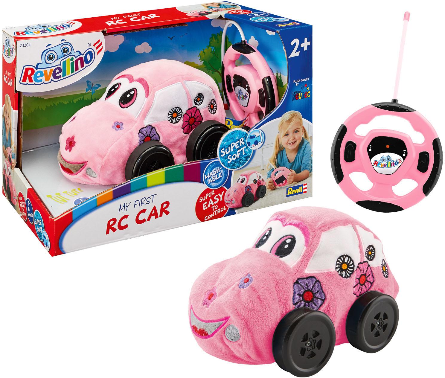 Revell RC-Auto Revellino, Mein erster RC Rennwagen, 27 MHz in Pink, aus Plüsch rosa Kinder Auto Autos, Eisenbahn Modellbau