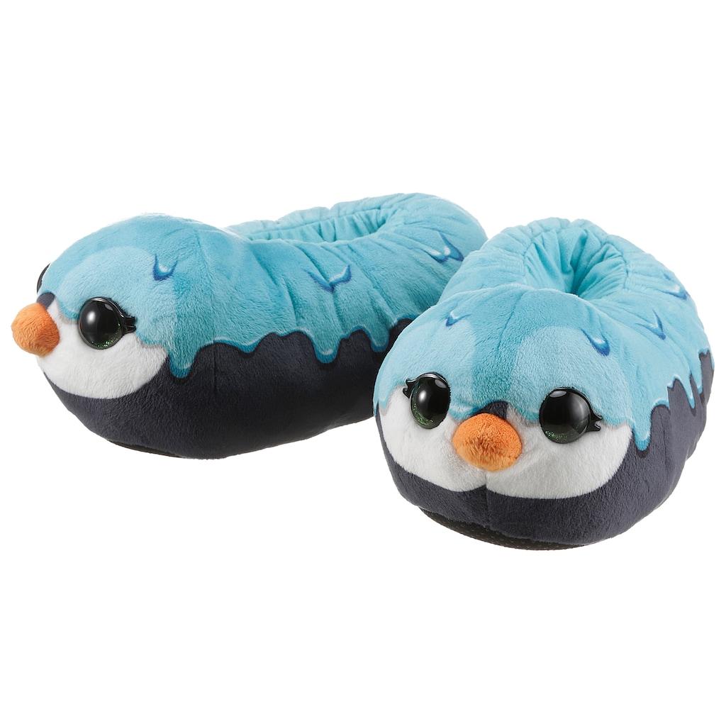 Nici Plüsch Hausschuhe »NICIdoo Pinguin«, mit großen Glubschaugen