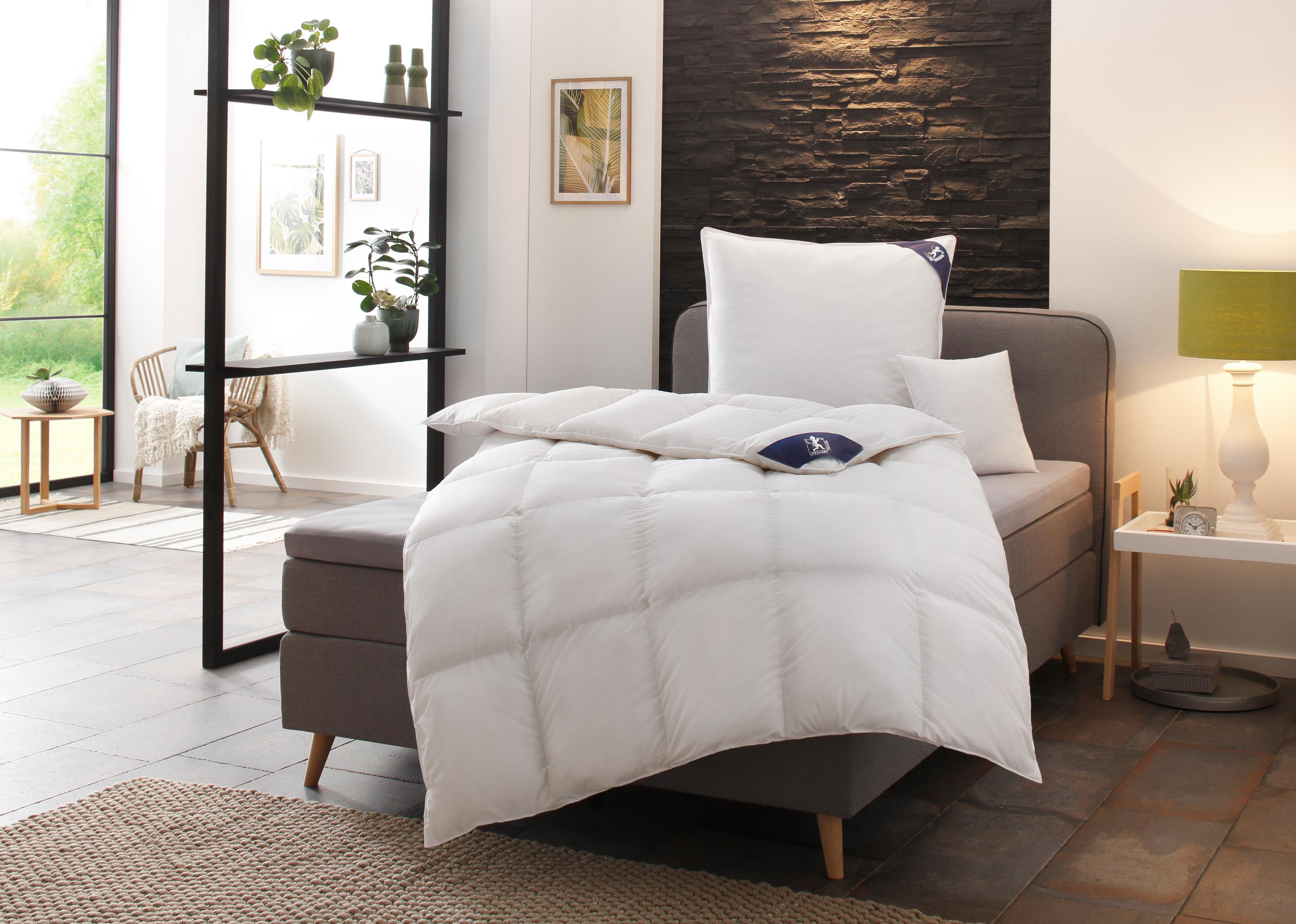 Gänsedaunenbettdecke Premium****** SPESSARTTRAUM normal Füllung: 100% Gänsedaunen Bezug: 100% Baumwolle | Heimtextilien > Decken und Kissen > Bettdecken | Weiß | Spessarttraum