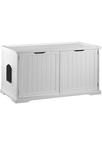 DOBAR Katzenhaus »Mohrle XL«, BxLxH: 54x95x58 cm, weiß kaufen