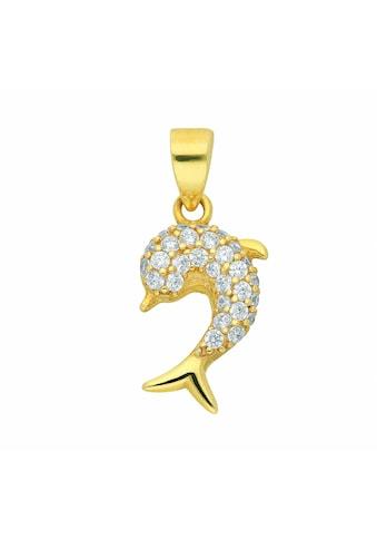 Adelia´s Kette mit Anhänger »333 Gold Anhänger Delphin mit Zirkonia - Set mit... kaufen