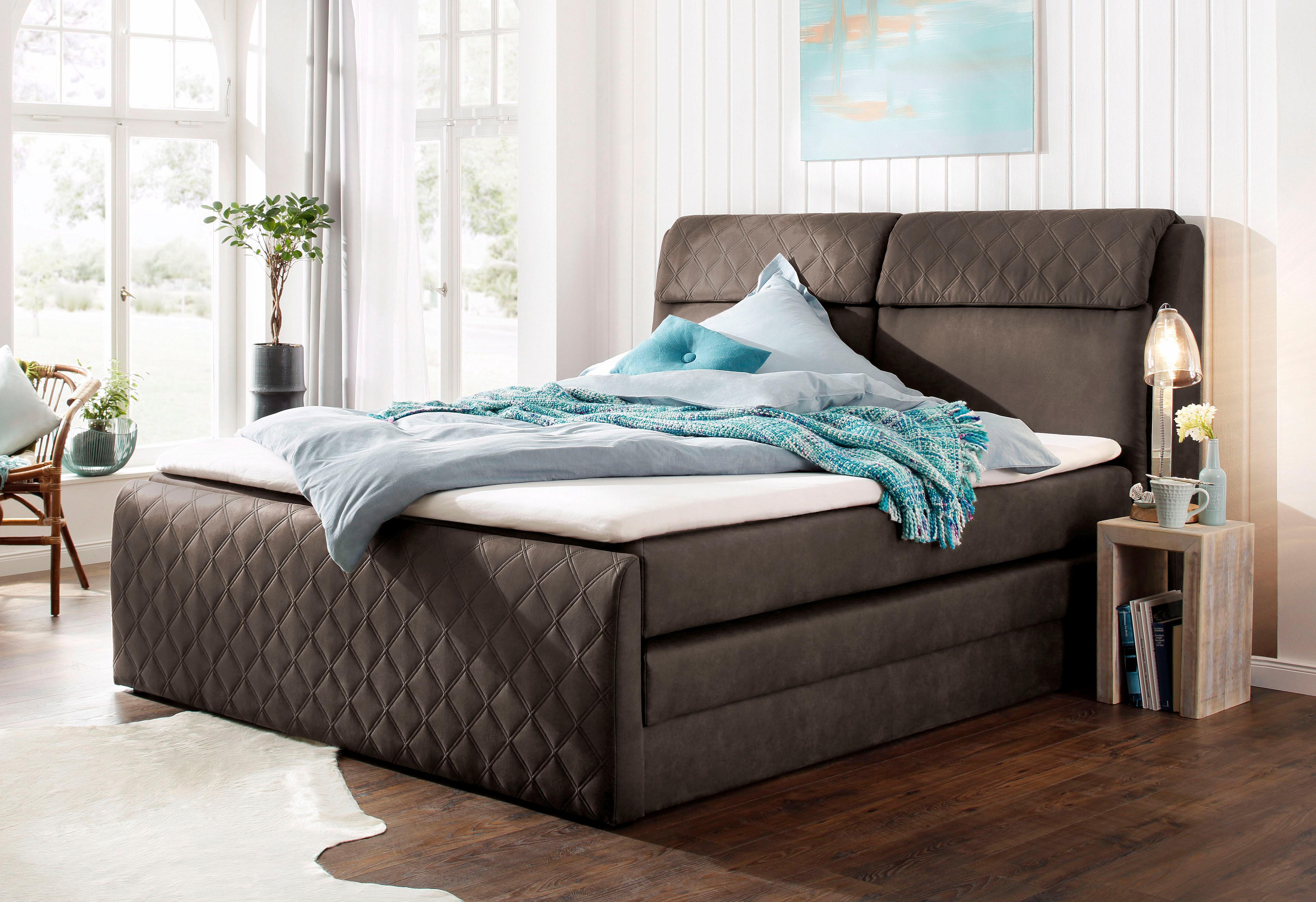 home affaire boxspringbett chester mit. Black Bedroom Furniture Sets. Home Design Ideas