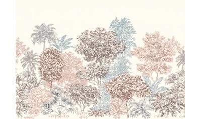 Komar Fototapete »Vliestapete Painted Trees«, bedruckt-geblümt-floral-realistisch, 400... kaufen